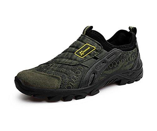 Herren Wanderschuhe Trekking Slip-on Sneaker Outdoor Sport Jogging Walking Schuhe Leichtgewicht Alter Mann Schwarz Braun Grün Grau 39-44 Grün 42