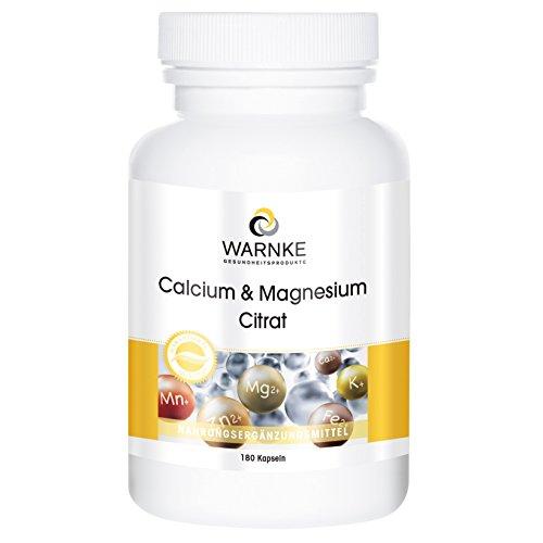 Warnke Gesundheitsprodukte Calcium- und Magnesiumcitrat 180 Kapseln
