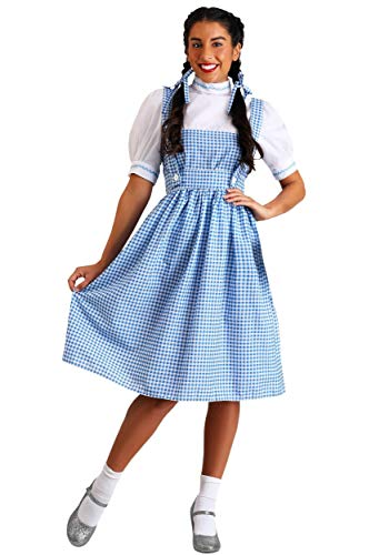 Womens Adult Dorothy Kostüm - Adult Plus Size Kansas Girl Fancy dress costume 6X