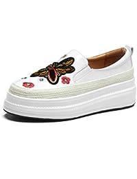 Sneakers Comodos Plataforma Cuña para Mujer,MWOOOK-827 Mujer Zapatos Wedge Sneakers Talón Casual