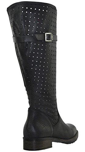 JJ Footwear Damen Stiefel Leder Nicosia XL Beige
