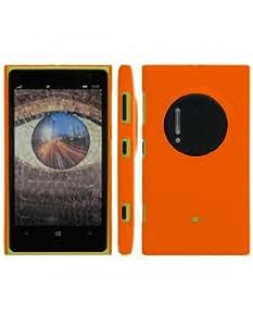 Coque rigide Orange pour Lumia 1020 Nokia aspect mat toucher rubber