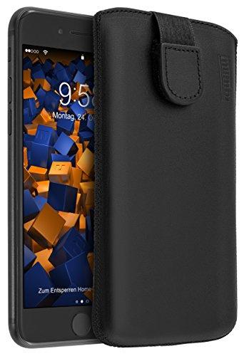 mumbi ECHT Ledertasche für iPhone 8 / iPhone 7 Tasche Leder Etui (Lasche mit Rückzugfunktion Ausziehhilfe) (Tasche 7 Leder)