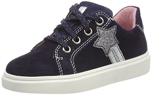 Richter Kinderschuhe Mädchen Flora Sneaker, Blau (Atlantic/Silver), 34 EU