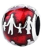 Way2bbCharm para pulsera personalizable, diseño de amor y familia, plata de ley 925
