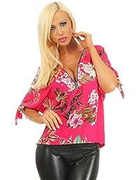 Heine Tunika Strass Bunt Bluse Hemd Shirt Blume Druck Top Gr 34 36 38 40