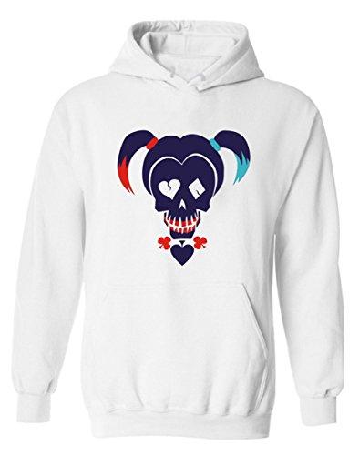 SERAPHY Damen Harley Quinn Hoodies Joker Hoodies Suicide Squad Sweatshirt Hoodies Kapuzenpullover für Frauen White-Ponytail M Squad Hoodie Sweatshirts