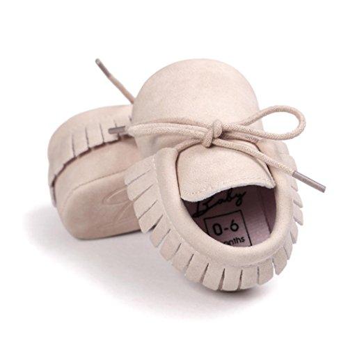 Culater® Culla nappe Bandage morbida suola scarpe da tennis dei pattini casuali Beige