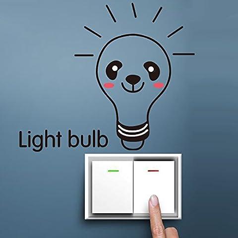 Cartoon carino lampadina è rivolto verso la parete di creative adesivi frigo,Lampadina 07,nell' - Fluorescente Pianta Lampadine