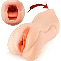 LEADO 3D Realista Sexo Oral Mamadas Garganta Profunda Dientes y Lengua Masturbador Masculino Vagina Coño de Bolsillo Corrida Masturbación