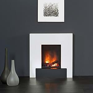 muenkel Design Breeze Camino elettrico opti-myst calore: bianco puro - M - SENZA RISCALDAMENTO, con dekoholz ( ommod 400)