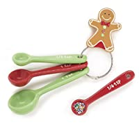 Ceramic Gingerbread Christmas Measuring Spoon Set