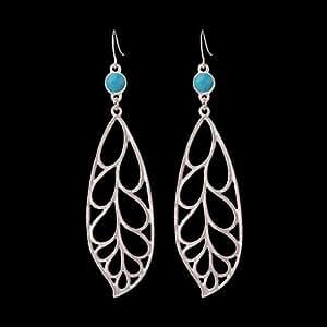 Brighton marque en argent et or Couleurs En Forme de Feuilles Longues Boucles d'oreilles en résine Jewelry Boucles d'oreilles pendantes pour Femme