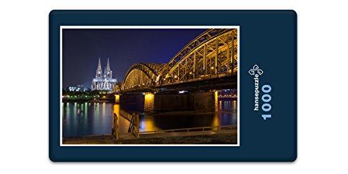 hansepuzzle 23434 Gebäude - Kölner Dom, 1000 Teile in hochwertiger Kartonbox, Puzzle-Teile in wiederverschliessbarem Beutel.