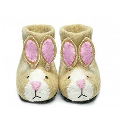 Sew Heart Felt Slippers - Sand Rabbit- Size 1 (Age 0-1)