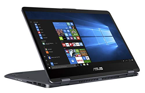 "Asus Vivobook Flip TP410UA-EC656T PC portable 14"" Gris (Intel Core i7, 8 Go de RAM, 1To + SSD 128 Go, Windows 10) Clavier AZERTY Français"