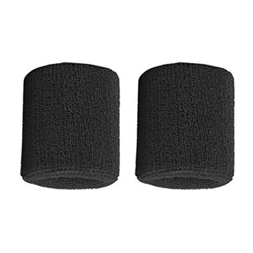 ARDUTE 1Pair Pure Cotton Wristbands Men Women Wrist Bands Sweatbands for Sport Tennis