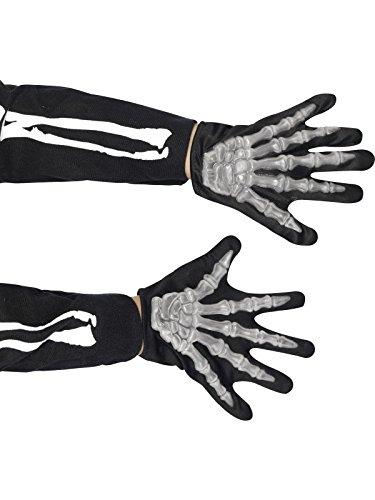 Skelett Handschuhe Skeletthandschuhe Kinder (Skelett Kostüme)