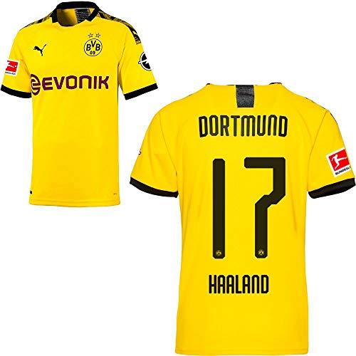 PUMA Borussia Dortmund BVB Heimtrikot 2019 2020 Home Trikot Sponsor BL Logo Herren Erling Haaland 17 Gr XL