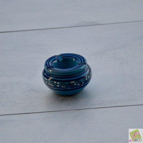 Yodeco - Cendrier anti fumée Tatoué bleu clair - Mini modèle