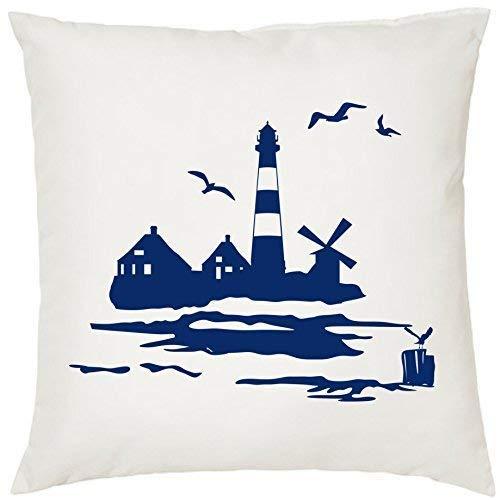 Kissen Zierkissen mit Füllung Kuschelkissen Geschenk Maritim Nautical 40cm x 40cm 40cm x 40cm Leuchtturm