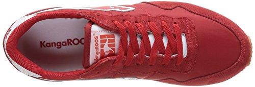Kangaroos - Invader-basic, Sneakers De Hombre Rojo (rot (rojo 600))