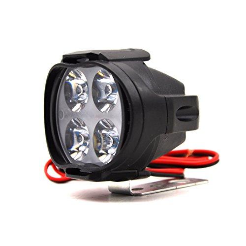 1 foco blanco LED de 12W, brillante, para motocicleta, antiniebla