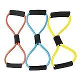 Fitness-Pull Trainer Seil Arm Brust Krafttraining Schwamm Lenker Zufällig Farbe Packung von 1
