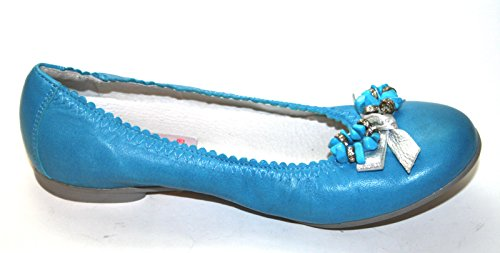 Cherie Kinder Schuhe Mädchen Ballerinas 7804, Blau (blau/silber), EU 32 (ohne Karton) Blau
