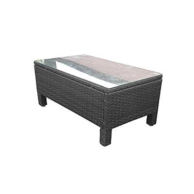 Oseasons® Morocco Rattan Rectangular Coffee Table in Black