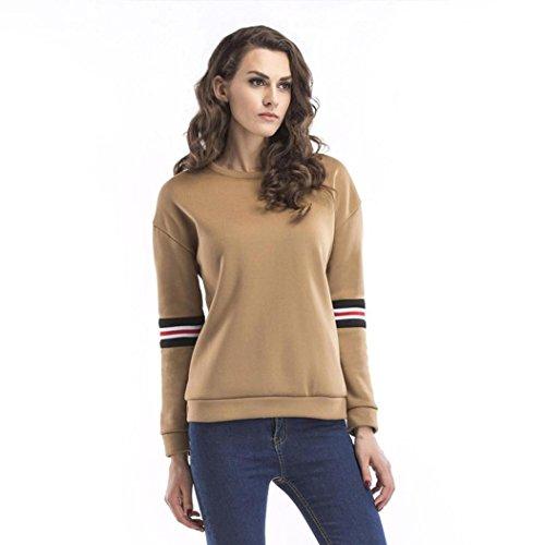Fair-isle-pullover Mit V-ausschnitt (Leey Frauen Sweatshirt, Langarm Rundhals Lose Bluse Casual Tops (S))