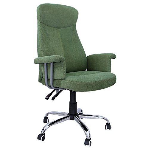 songmics-office-executive-desk-chair-with-adjustable-back-flocking-fabric-green-obg41l