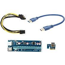 Cavo di alimentazione USB 3.0 da 6 pin, adattatore di espansione della scheda riser PCI-E da 1 x a 16 x 30 cm