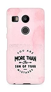 AMEZ you are more than the sum of your mistakes Back Cover For LG Nexus 5x