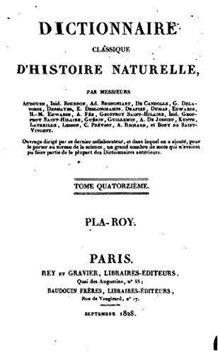 Dictionnaire Classique d'Histoire Naturelle - Tome XIV par Jean Victor Audouin