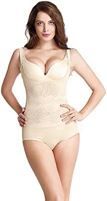 Aibrou Corsé para Mujer de Perfecto Figura, Quita desde Atrás Body Fija Moldeadora Posparto Cintura Ajustable Sin Costuras Cómoda Bodysuits