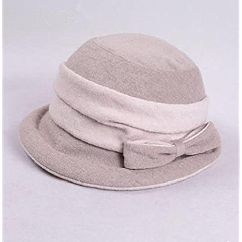 WE&ZHE Berretto di lana cappello bacino femminile tenere caldo svincolo ispessito farfalla decora tempo libero moda autunno e inverno , 1#