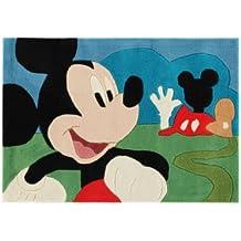 Disney Alfombra infantil / niños Mickey Mouse Multicolor 80x120 cm / Marca de calidad: Marca de calidad TÜV / Composición: 100% Poliacrílico / Grosor del hilo: 11 - 20 mm / Diseño: Dibujos animados / Fabricación:Handtufted / Habitación: Cuarto de los niños