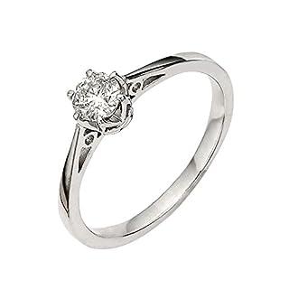 premium 1/6 carat diamond solitaire engagement ring Size K 1/2