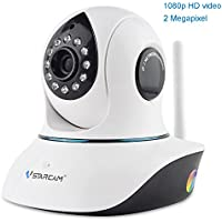 Vstarcam C38S IP Camera 1080P HD Webcam Sicurezza de Surveillance Camera Interna WiFi senza Fili Camera IR-Cut Supporto TF Carta APP Android / iPhone / iPad /