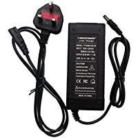 Tangspower 54.6V1.5A Cargador 54.6V 1.5A Batería de Litio Eléctrica para Bicicleta DE 48 V Litio Batería Pack DC5.5 * 2.1MM UK Plug