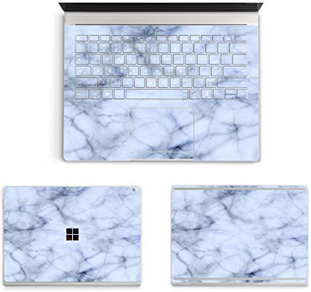Masino 3 in 1 Body Protector Aufkleber Full Schutzhülle Aufkleber Cover Haut für 34,3 cm 33 cm Microsoft Surface Buch (2015) Marble- Light Blue for 13.5 inch Surface Book -