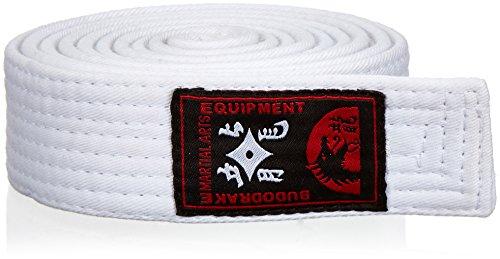 Budodrake Cinturón blanco 220 cm para Karate Judo Taekwondo Hapkido Aikido Artes marciales