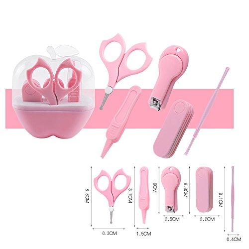 LPWORD Baby Grooming Kit, Sicherheits Baby Nagelknipser Set Enthält Nagelknipser, Sicherheitsschere, Nasenpinzette Und Nagelfeile Für Neugeborene, Babys, Kleinkinder, Kleinkinder Und Kinder