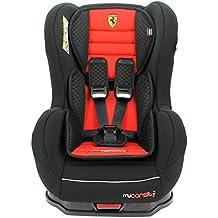 Silla de coche ISOFIX Ferrari de 9a 18kg con protecciones laterales–Creación 100% francesa–3estrellas Test TCS–4colores–Cale cabeza y asiento acolchados.