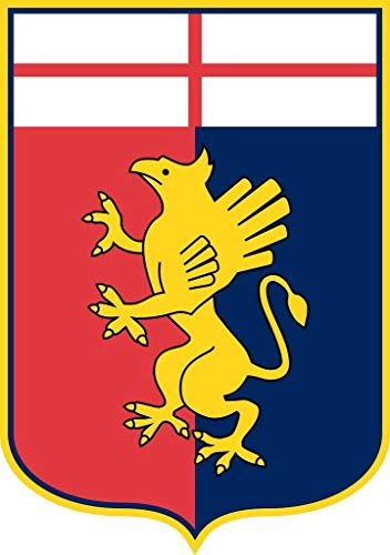 Genoa C.F.C - Football Club Crest Logo Wall Poster Print - 43cm x 61cm / 17 Inches x 24 Inches A2 Serie A
