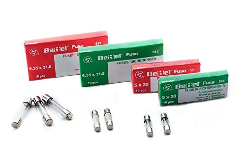 Sicherung 10A träge 5x20mm 250V TYP 522 10er Päckchen Feinsicherung Glassicherung G-Sicherung -