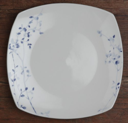 Melange 16-Piece Garden Square Porcelain Place Setting Serving for 4, Indigo