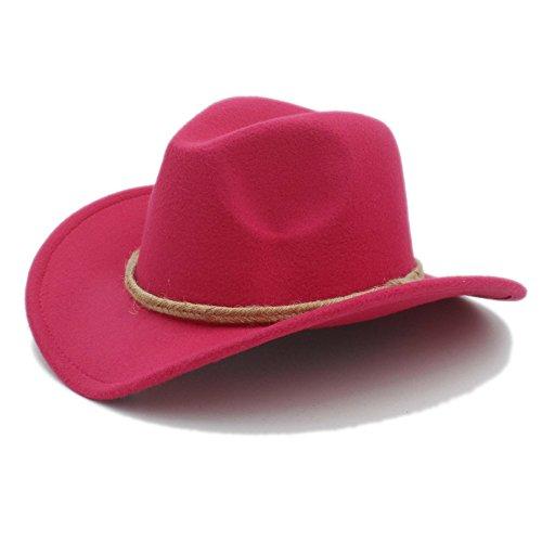 AJZGF Retro Frauen Männer Chapeu Western Cowboy Hut Für Gentleman Cowgirl Wide Brim Jazz Kirche Cap Hut ( Farbe : 5 , größe : 57-58CM ) (Kreative Cowgirl Kostüm)