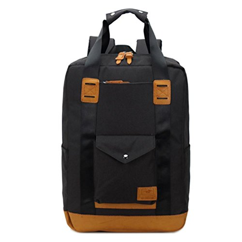 Maschile borsa a tracolla, calcolatore dello zaino, borse per il tempo libero, in nylon impermeabile, può essere spalla portatile, tasca del computer, tasca per cellulare, borse chiusura lampo del pan a